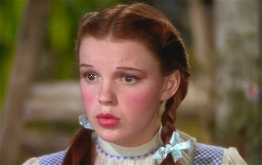 "Judy Garland as Dorothy in ""The Wizard of Oz."""