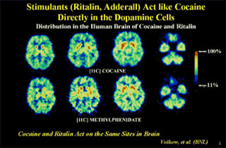 Cocaine and Ritalin comparison