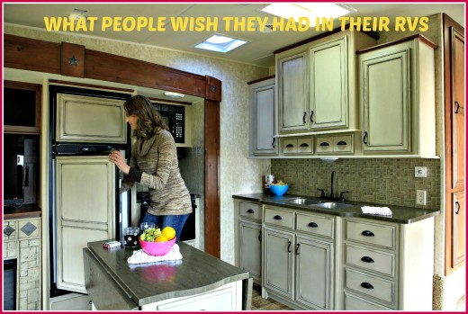 Things people would like to have in their RVs but neglected to think about when making their purchases.
