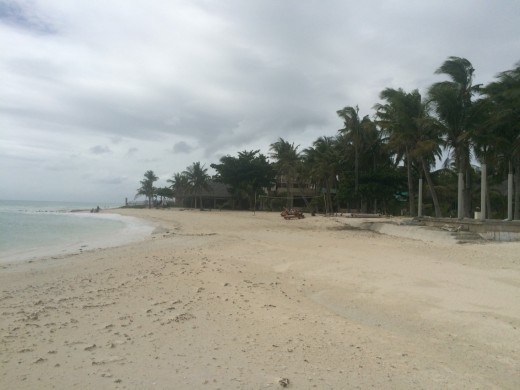 A typical Philippine beach, this is Lambug on Cebu