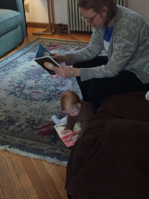 One way Mom & Baby read together.