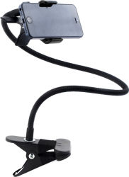Cell phone gooseneck mount. These are around $8.00 to $20.00 . I bought mine from Amazon. Buy 2. Use one for stable shots and the other to build the slider.