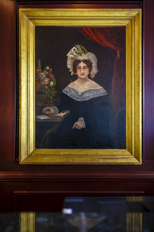 Portrait of Mary Marshall, Painted in 1830 by the Artist Peter Laurens, That Hangs in the Hotel Lobby