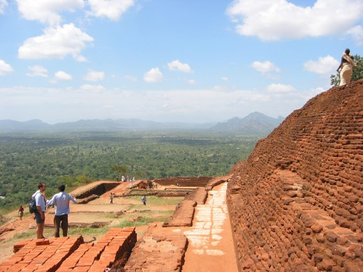 At the top of the mountain fortress of Sigiriya, Sri Lanka