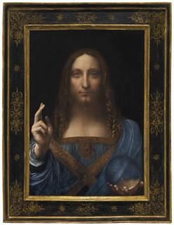 Salvatore Mundi.  Da Vinci Pranking the Catholic Church