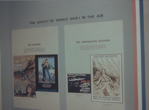 Posters at The National Air & Space Museum's World War I Gallery, July 1995.