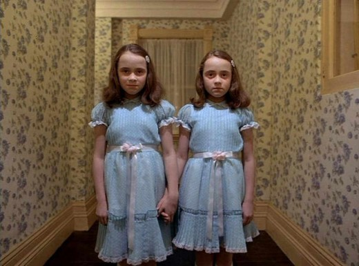 "The Ghostly Grady Twins of the Overlook Hotel, From the Stanley Kubrick Movie ""The Shining"", Based on the Novel by Stephen King"