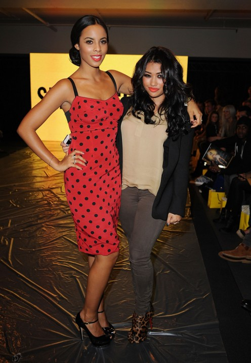 Vanessa White is seen here with band mate Rochelle Humes (then Wiseman) in London, England in 2011.