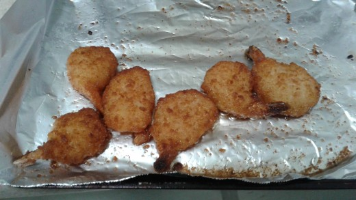 from the toaster oven, they retain a nice crispiness