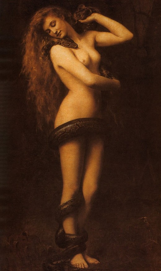 Lilith was once a snake goddess, which is probably why she was associated with the serpent in the garden of eden.