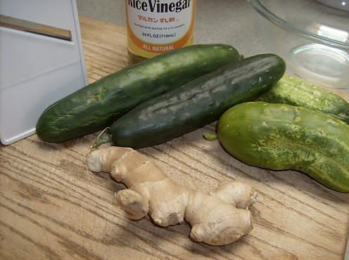 Ginger, Cucumbers, Rice Vinegar