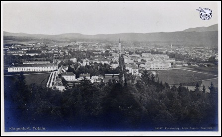 Klagenfurt, provincial capital of Carinthia in the south of Austria. To the south the border with Slovenia in Yugoslavia, south-west the border with liberated Italy. Some way east were the Russians in Styria, north the Americans, west the French