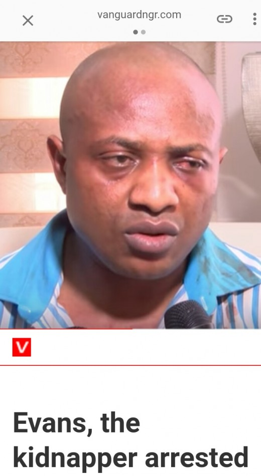 Arrested billionaire kidnapper, Evans. A Nigerian kidnapper that have troubled the country through his kidnapping skill.