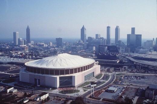 The Georgia Dome in the 1990s