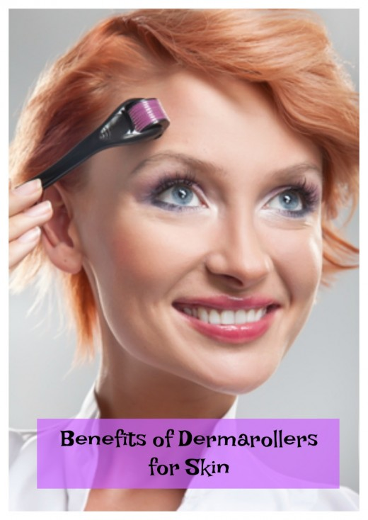 Use the derma roller for wrinkles  acne, stretch marks and cellulite