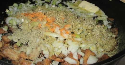 add spices: seasoned salt, italian seasoning, poultry seasoning.