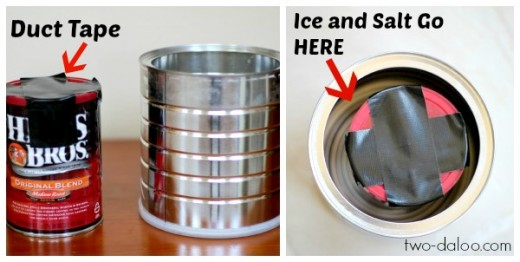 if you are using the can, place everything in the smaller can and seal with tape (recommended)