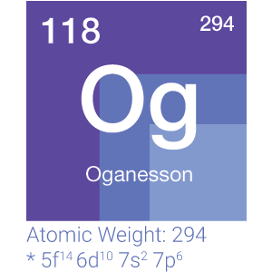 This is the element 118 and that is Oganesson with atomic Weight