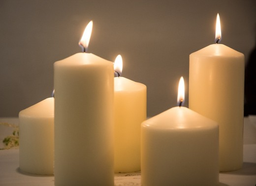 White candle light is just as effective to cleanse a space as smoke.