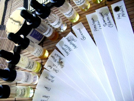 Test essential oils first on a strip of blotting paper.