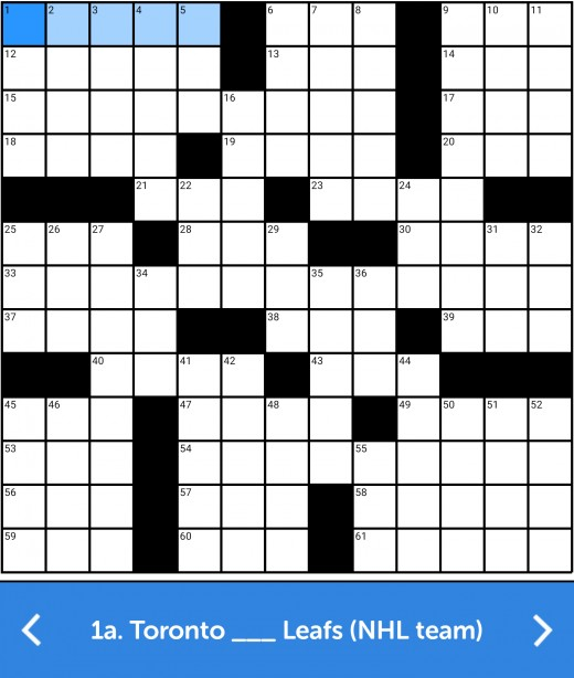 An example of a crossword puzzle.