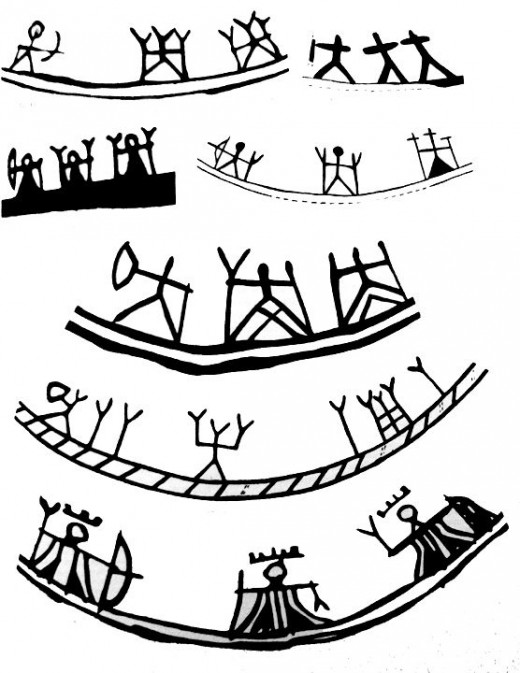Three goddesses are often pictured in the bottom of a saami shaman drum