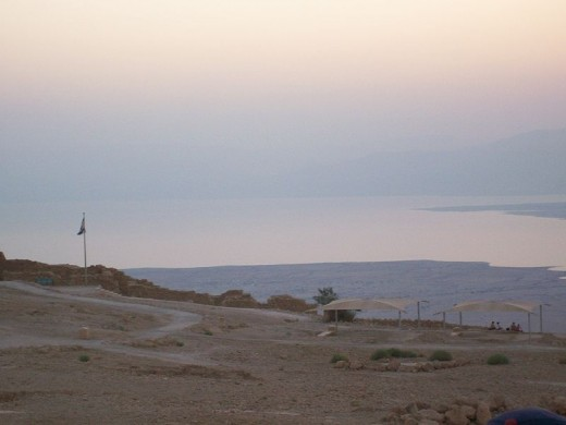The Dead Sea from Masada (photo is in the public domain)