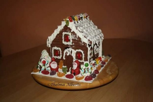 My selfmade gingerbread house.
