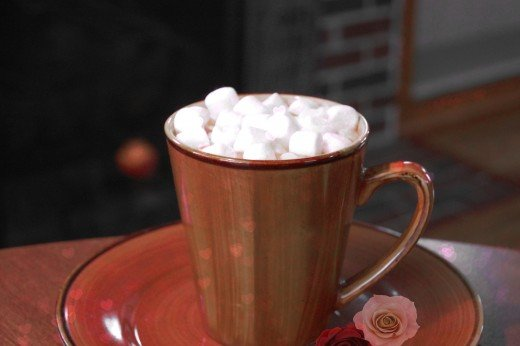 You can enjoy the pleasures of the season, such as hot chocolate, once you have simplified your life.