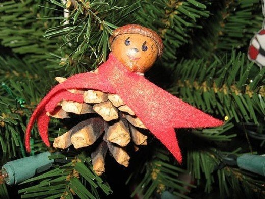 A friend in Maine made this for me. It's a pine cone and an acorn made into a cute pixie.