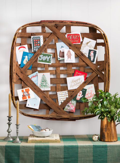 A fun way to display holiday cards.