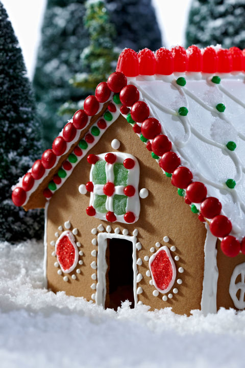 Decorate a gingerbread house.
