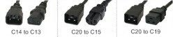 Common Power Cord Types: C13, C15, C19 and NEMA 5-15P
