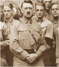 Adolf Hitler with an Army behind him