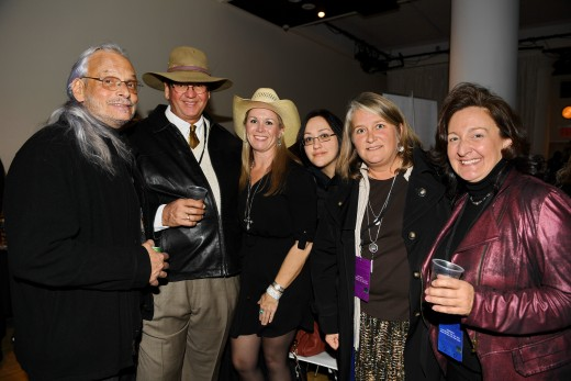 Paul Cohen, Bruce Anderson, Lorie Duff from the film Humble and Kind, Heather Curtis and Heather Reichel with the Hanging Barn, part of the Spotlight Series, and Julianne Neal, winner of the Horse Hero award and Equestrian Series - Documentary Format