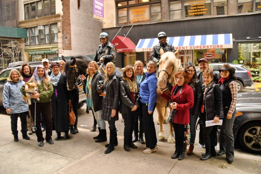 Tiny tots and passersby had a chance to visit with Mounted Police Officers Herminio Colon and Jemal Elliot and their horses Spartan and Scout.