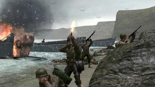 (Image - Call of Duty original) - the Normandy landing was the turning point for European freedom from the Nazi ruling - and is once again reenacted in Call of Duty: WWII (CoD, 2017)