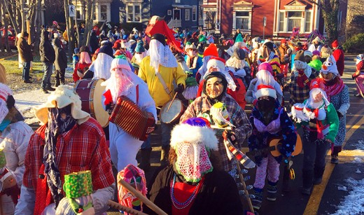 The Mummers Parade in Downtown St. John's.