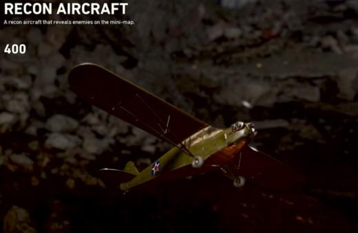In-game description of Recon Aircraft.