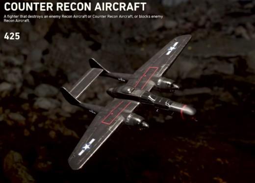 In-game description of Counter Recon Aircraft.