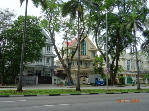Colonial-style properties on Newton Road, Singapore
