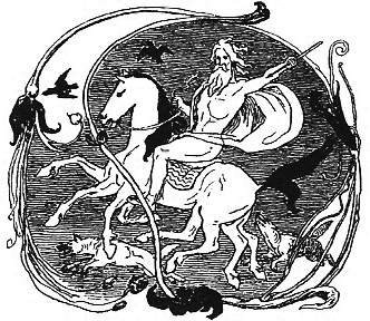 Odin is a pagan norse god who rode a white horse through the skies and closely resembles Santa Claus.