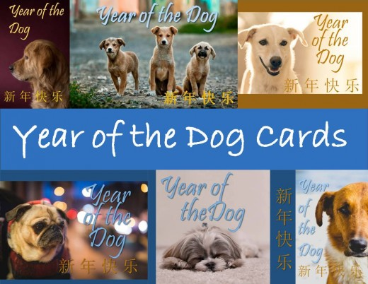 These are the Year of the Dog cards you can find at the bottom of this site.