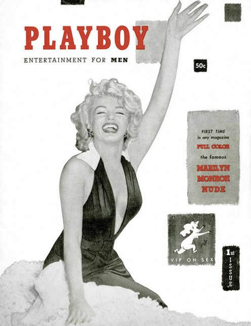 Playboy's first issue featuring Marilyn Monroe.