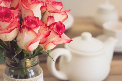 3. Use jam jars as vases.