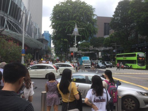 Orchard Road on a Saturday morning in November 2017