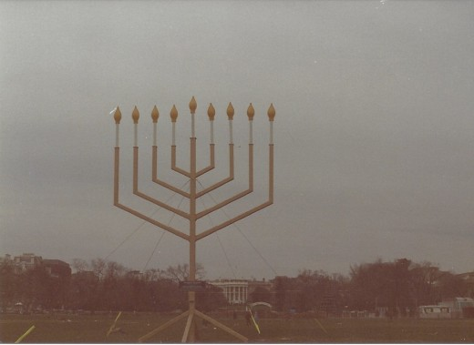 Menorah on the White House Ellipse.