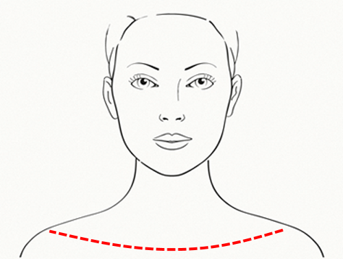 Treat the neck and shoulder-line as part of the face.