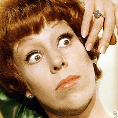Carol Burnett and those expressive eyes! My favorite character from her show is Eunice. She is hilarious with Vicki Lawrence's grumpy character Mama.