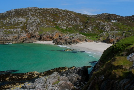 Vestey's Beach, Sutherland, displays the wildness of the landscape - in warmer climes that beach would be a 'mecca' for visitors!